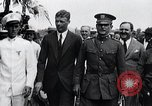 Image of Charles Lindbergh feted by President Rodolfo Chiari  Panama City Panama, 1928, second 55 stock footage video 65675031428