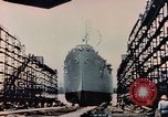 Image of Launching Liberty Ships Sausalito California USA, 1944, second 36 stock footage video 65675031502