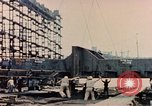 Image of Launching Liberty Ships Sausalito California USA, 1944, second 49 stock footage video 65675031502