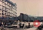Image of Launching Liberty Ships Sausalito California USA, 1944, second 51 stock footage video 65675031502