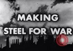 Image of making of steel United States USA, 1943, second 5 stock footage video 65675031503