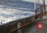 Image of Oceanic survey vessel in heavy seas Pacific ocean, 1963, second 3 stock footage video 65675031521