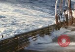 Image of Oceanic survey vessel in heavy seas Pacific ocean, 1963, second 5 stock footage video 65675031521
