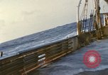 Image of Oceanic survey vessel in heavy seas Pacific ocean, 1963, second 9 stock footage video 65675031521