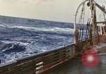 Image of Oceanic survey vessel in heavy seas Pacific ocean, 1963, second 13 stock footage video 65675031521