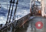 Image of Oceanic survey vessel in heavy seas Pacific ocean, 1963, second 22 stock footage video 65675031521