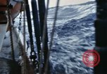 Image of Oceanic survey vessel in heavy seas Pacific ocean, 1963, second 24 stock footage video 65675031521