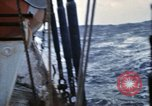 Image of Oceanic survey vessel in heavy seas Pacific ocean, 1963, second 25 stock footage video 65675031521