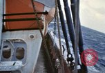Image of Oceanic survey vessel in heavy seas Pacific ocean, 1963, second 40 stock footage video 65675031521