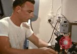 Image of Oceanic survey vessel laboratory Pacific Ocean, 1963, second 32 stock footage video 65675031522