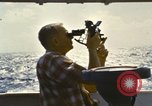 Image of Using sextant on oceanic survey vessel Pacific Ocean, 1963, second 2 stock footage video 65675031523