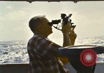 Image of Using sextant on oceanic survey vessel Pacific Ocean, 1963, second 3 stock footage video 65675031523