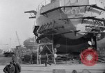 Image of Shipyard United States USA, 1940, second 33 stock footage video 65675031524