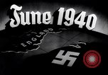 Image of Hitler planning invasion of England Paris France, 1940, second 39 stock footage video 65675031679