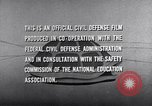Image of civil defense United States USA, 1955, second 52 stock footage video 65675031691