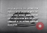 Image of civil defense United States USA, 1955, second 56 stock footage video 65675031691