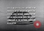 Image of civil defense United States USA, 1955, second 59 stock footage video 65675031691