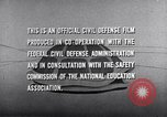 Image of civil defense United States USA, 1955, second 60 stock footage video 65675031691