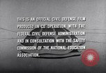Image of civil defense United States USA, 1955, second 61 stock footage video 65675031691