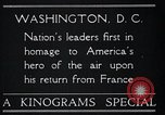 Image of Captain Charles A Lindbergh Washington DC USA, 1928, second 2 stock footage video 65675031736