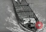 Image of river barge Mainz Germany, 1954, second 17 stock footage video 65675031776