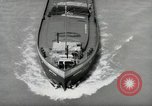 Image of river barge Mainz Germany, 1954, second 41 stock footage video 65675031776