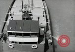 Image of river barge Mainz Germany, 1954, second 59 stock footage video 65675031776