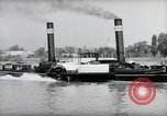 Image of traffic on Rhine Wiesbaden Germany, 1954, second 41 stock footage video 65675031783