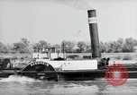 Image of traffic on Rhine Wiesbaden Germany, 1954, second 61 stock footage video 65675031783