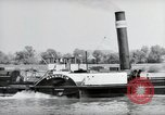 Image of traffic on Rhine Wiesbaden Germany, 1954, second 62 stock footage video 65675031783