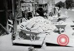 Image of construction work Mainz Germany, 1954, second 21 stock footage video 65675031792
