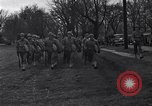 Image of American soldiers in full battle gear United States USA, 1943, second 10 stock footage video 65675031860
