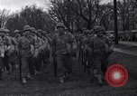 Image of American soldiers in full battle gear United States USA, 1943, second 15 stock footage video 65675031860
