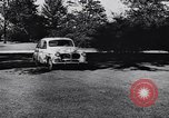 Image of Michigan manufacturer displays new automobile Michigan United States USA, 1941, second 22 stock footage video 65675031875