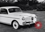 Image of Michigan manufacturer displays new automobile Michigan United States USA, 1941, second 25 stock footage video 65675031875