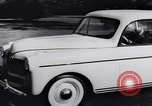 Image of Michigan manufacturer displays new automobile Michigan United States USA, 1941, second 33 stock footage video 65675031875