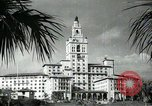 Image of Hotel buildings Coral Gables section of Miami Florida USA, 1936, second 58 stock footage video 65675031882