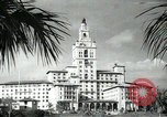 Image of Hotel buildings Coral Gables section of Miami Florida USA, 1936, second 59 stock footage video 65675031882