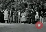 Image of tourists at Seminole Native American Indian trading post Miami Florida USA, 1936, second 20 stock footage video 65675031908