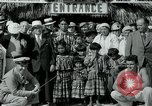 Image of tourists at Seminole Native American Indian trading post Miami Florida USA, 1936, second 21 stock footage video 65675031908