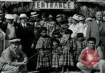 Image of tourists at Seminole Native American Indian trading post Miami Florida USA, 1936, second 23 stock footage video 65675031908