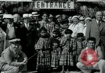 Image of tourists at Seminole Native American Indian trading post Miami Florida USA, 1936, second 26 stock footage video 65675031908