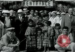 Image of tourists at Seminole Native American Indian trading post Miami Florida USA, 1936, second 27 stock footage video 65675031908