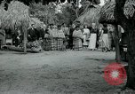 Image of tourists at Seminole Native American Indian trading post Miami Florida USA, 1936, second 30 stock footage video 65675031908