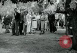 Image of tourists at Seminole Native American Indian trading post Miami Florida USA, 1936, second 43 stock footage video 65675031908
