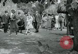 Image of tourists at Seminole Native American Indian trading post Miami Florida USA, 1936, second 50 stock footage video 65675031908