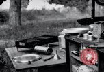 Image of camping in car United States USA, 1920, second 58 stock footage video 65675031931