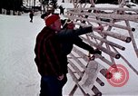 Image of precautions while skiing California United States USA, 1970, second 30 stock footage video 65675031953