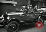 Image of Motorcade for Model T Fifteen Millionth car Highland Park Michigan USA, 1927, second 54 stock footage video 65675031961