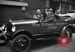 Image of Motorcade for Model T Fifteen Millionth car Highland Park Michigan USA, 1927, second 55 stock footage video 65675031961